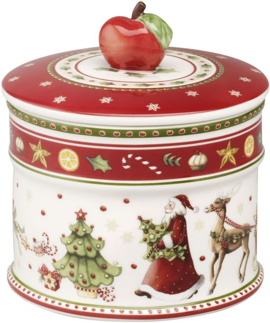 villeroy boch winter bakery delight koekjesdoos kerst klein wit rood. Black Bedroom Furniture Sets. Home Design Ideas