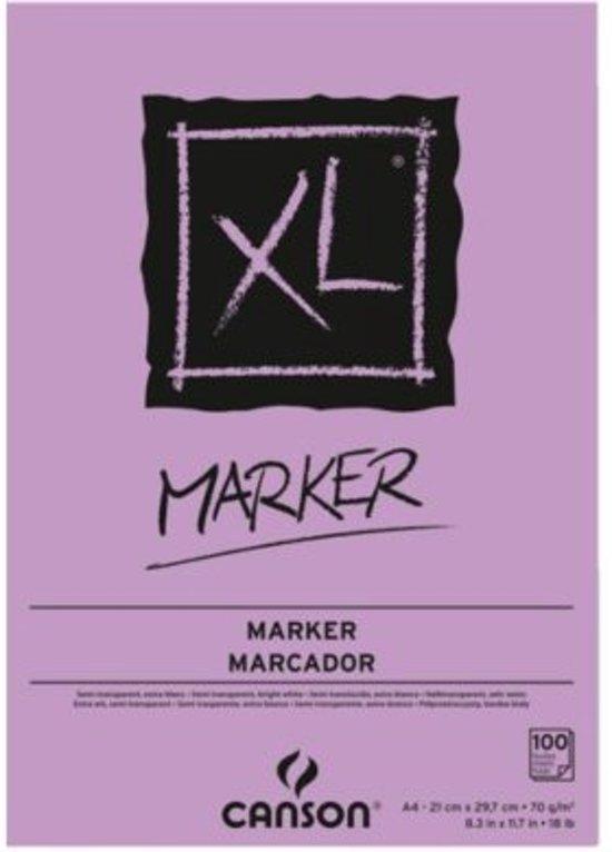 TEKENBLOK CANSON XL MARKER A4 70GRAM 100VEL in Kortezwaag / Koartsweagen