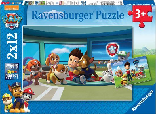 Ravensburger Paw Patrol Ryder en zijn vrienden - Twee puzzels van 12 stukjes in Winneweer