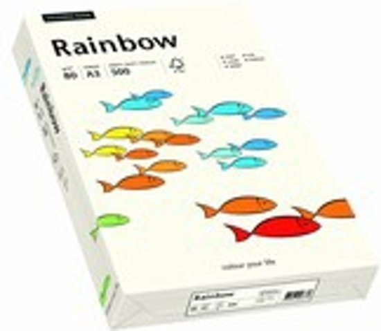 Rainbow gekleurd papier A4 160 gram 01 naturel wit 250 vel