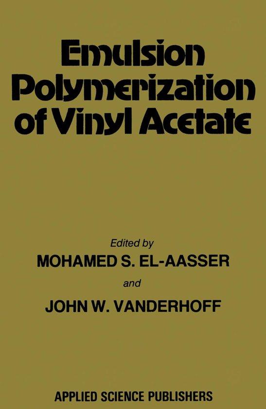 Bol Com Emulsion Polymerization Of Vinyl Acetate Ebook