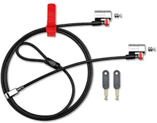Kensington ClickSafe® Twin Laptopslot - Keyed Different
