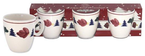 Boerenbont Kerst Mini Mok Pompei - 3 stuks