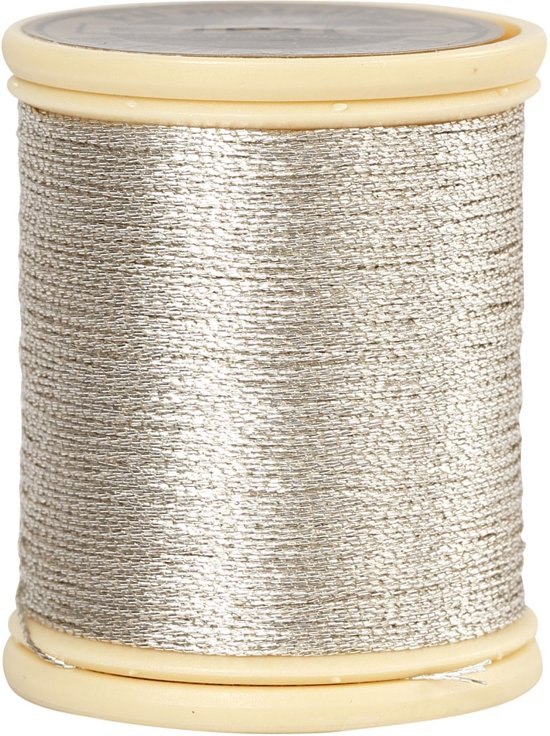 DMC metallic draad, zilver, 40 m in Linde