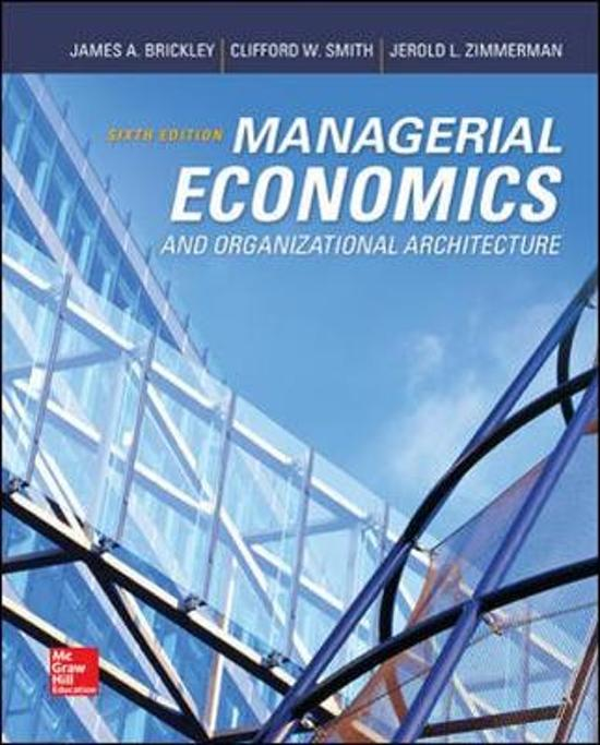Epub Managerial Economics And Organizational Architecture