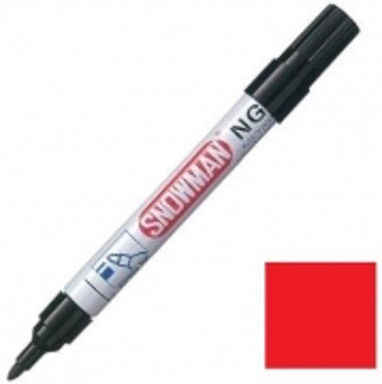 Snowman NG permanent marker rood in Onder de Molen
