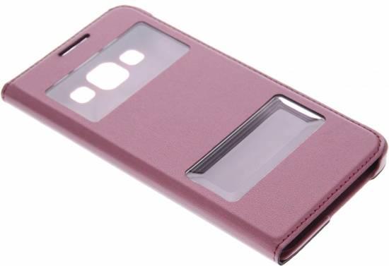 Rode Keukenapparaten : Rode luxe slim booktype hoes met venster Samsung Galaxy A3