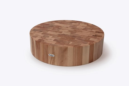 butler hakblok beukenhout rond 40 x 10 cm. Black Bedroom Furniture Sets. Home Design Ideas