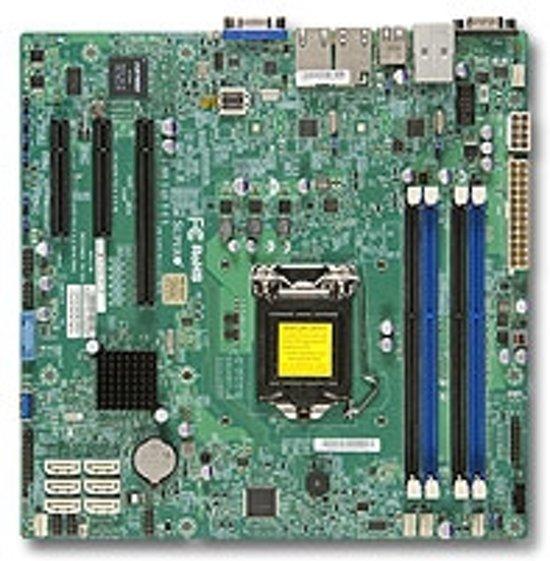 Supermicro X10SLM+-F Intel C224 Socket H3 (LGA 1150) Micro ATX server-/werkstationmoederbord