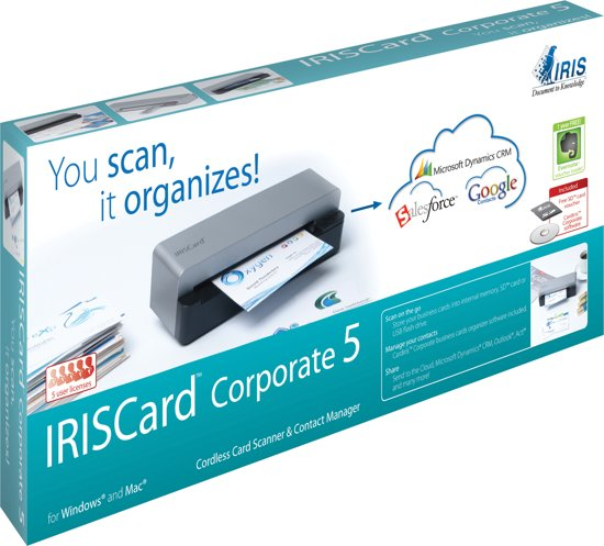 IRISCard Corporate 5 - Mobiele Kaart Scanner