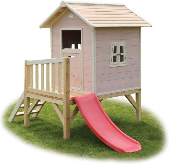 Exit beach 300 speelhuis met glijbaan roze - Huisje met vide ...