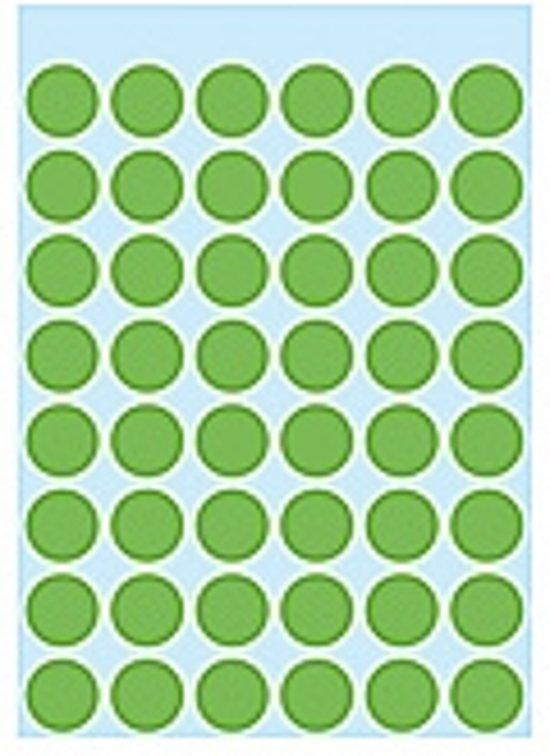 Herma 1865 Etiket Ø 12mm Groen - 240 Etiketten
