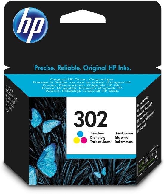 HP 302 - Inktcartridge / Kleur (F6U65AE)