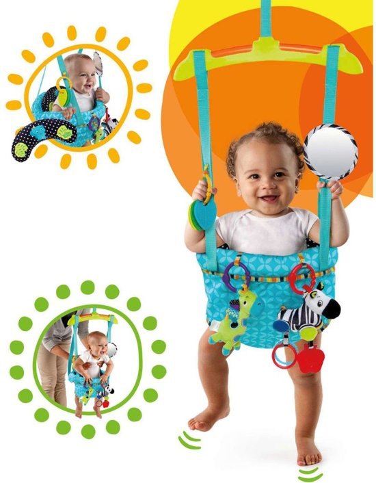 For first time parents, a baby jumper is a seat that contains harness fastened to a couple of elastic straps. You get to hang the seat anywhere safe in your house and place your child in so that he can start jumping around to improve his leg strength.