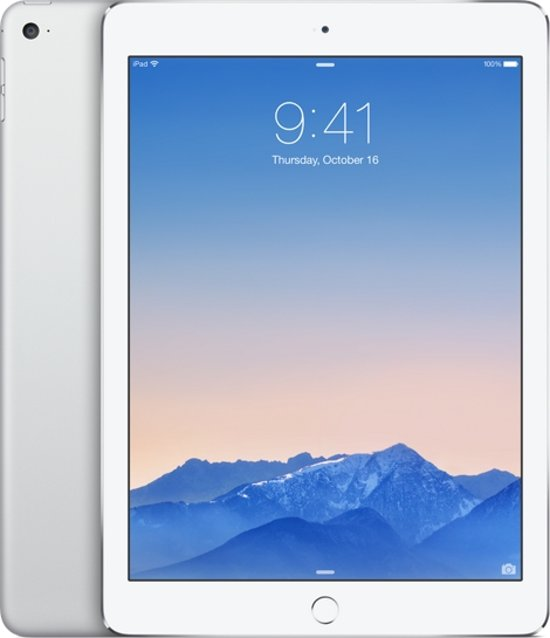 Apple iPad Air 2 - 4G + WiFi - Wit/Zilver - 128GB - Tablet