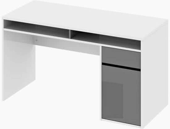 Tvilum plus bureau wit grijs for Ladenblok bureau wit