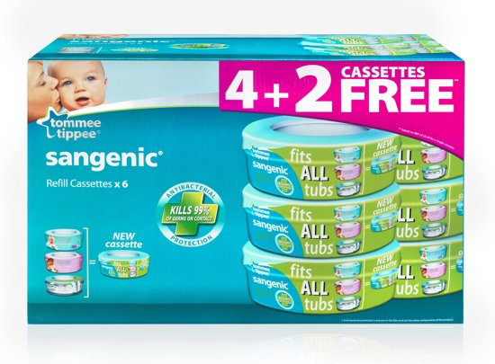 Tommee Tippee - Sangenic Six pack Navulling - Universeel
