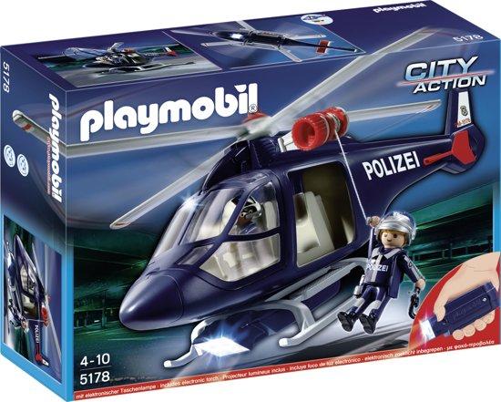Playmobil Politiehelikopter met LED-schijnwerper - 5178