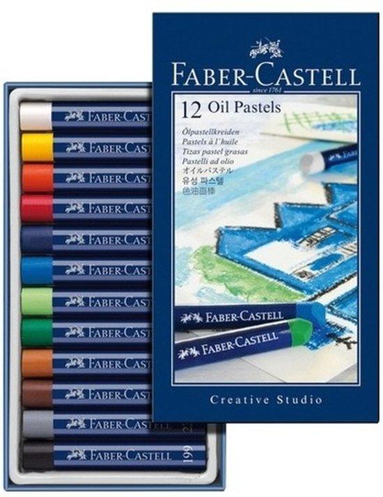 12x oliepastelkrijt Faber castell 11mm in Rijkel