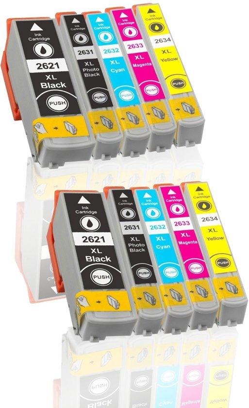 Epson 26 XL/ T2621, T2631-T2634 Compatible ActionPrint Inktcartridge-set 10pak