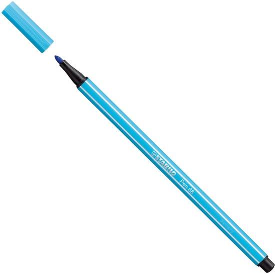 Pen Stabilo 68 azuurblauw in Braamberg