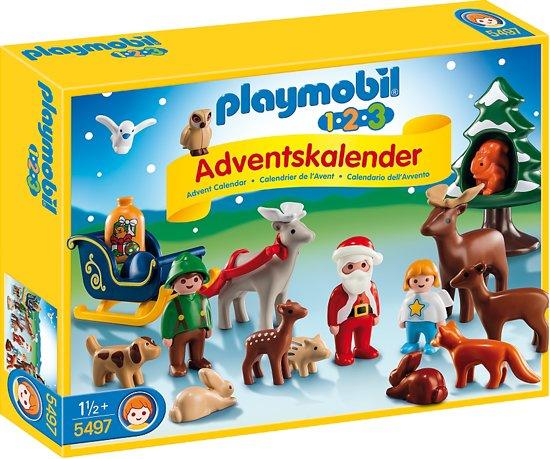 bol.com | Playmobil 123 Adventskalender Kerst in het bos ...