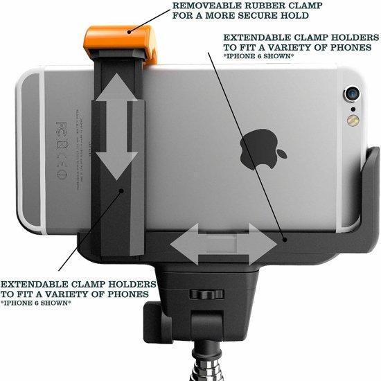 selfie stick bluetooth afstandsbediening voor iphone 6 4 7 inch blauw. Black Bedroom Furniture Sets. Home Design Ideas