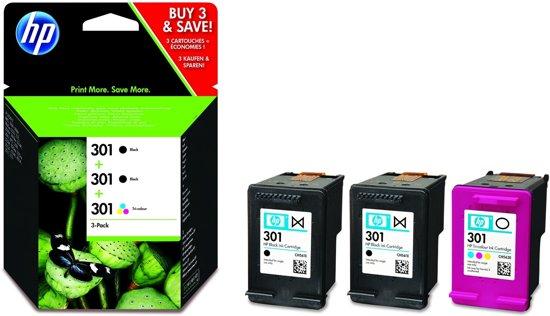HP 301 - Inktcartridge / Zwart / Kleur / 3-Pack (E5Y87EE)