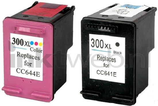 Merkloos - Inktcartridge / Alternatief voor de HP 300XL / Zwart / Kleur