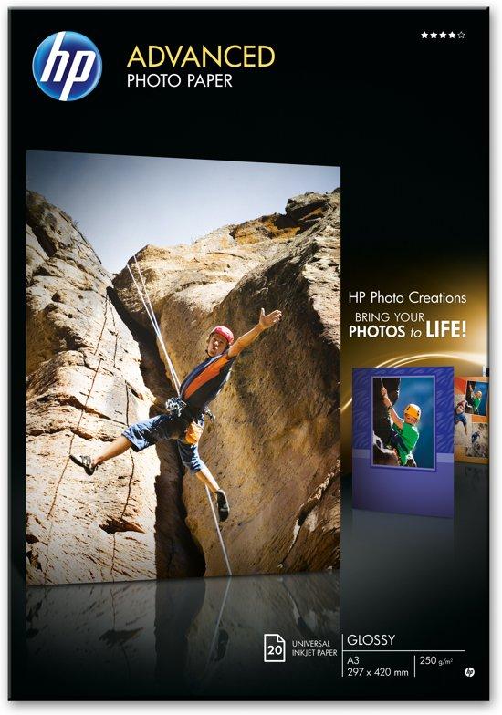 HP Q8697A Fotopapier - A3 / 250g/m / 20 vellen