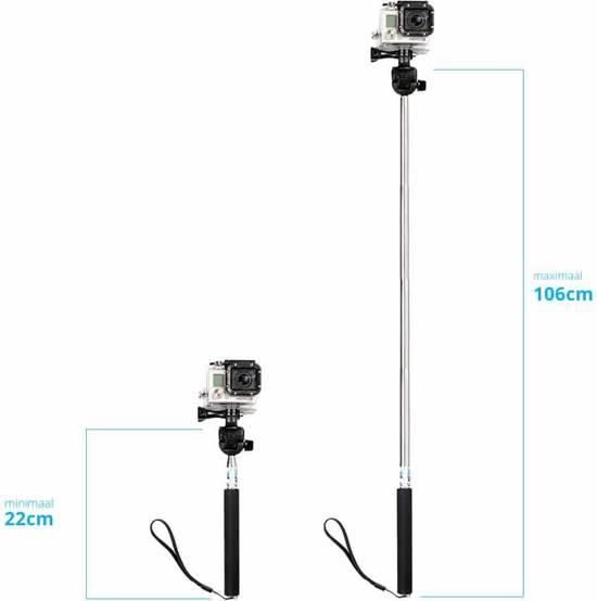 captec selfiestick uitschuifbare gopro selfie stick gopro pole tot. Black Bedroom Furniture Sets. Home Design Ideas