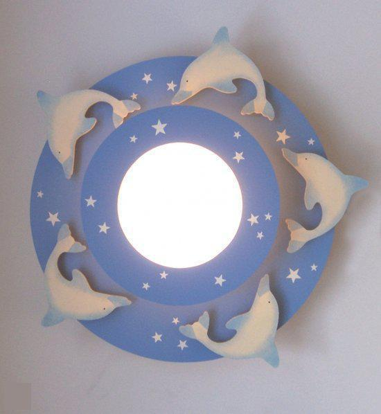 bol.com  Funnylight Dolfijnen - Plafonniere - Blauw  Wonen