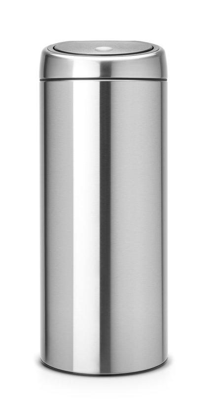 Brabantia Touch Bin Prullenbak - 30 l - Matt Steel