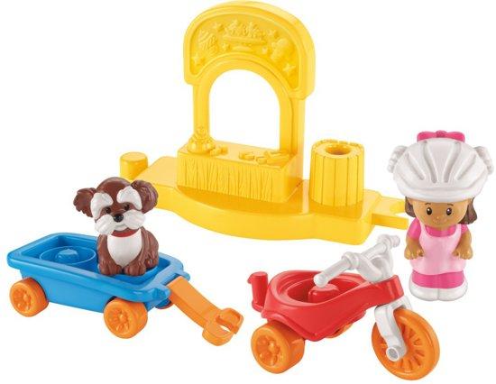 Fisher-Price Little People Driewieler met Wagentje - Speelfigurenset in De Gaasten