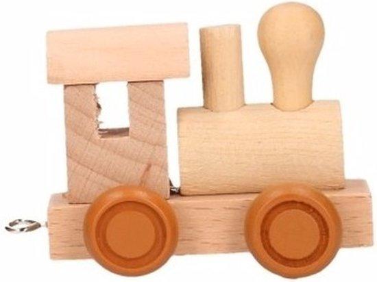 Houten letter trein locomotief for Houten vijverbak maken
