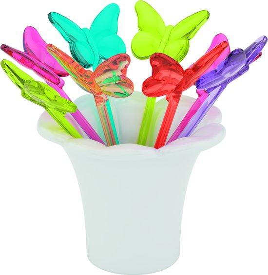 Zak!Designs Sweety Prikkertjes - Vlinders - In houder - Rainbow - Set van 8 stuks in Brakel