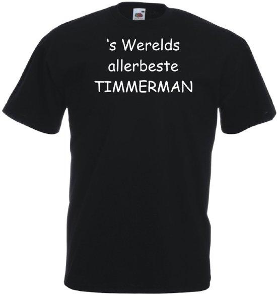 Mijncadeautje T-shirt - 's Werelds beste Timmerman - Heren Zwart (maat M) in Noordwijk