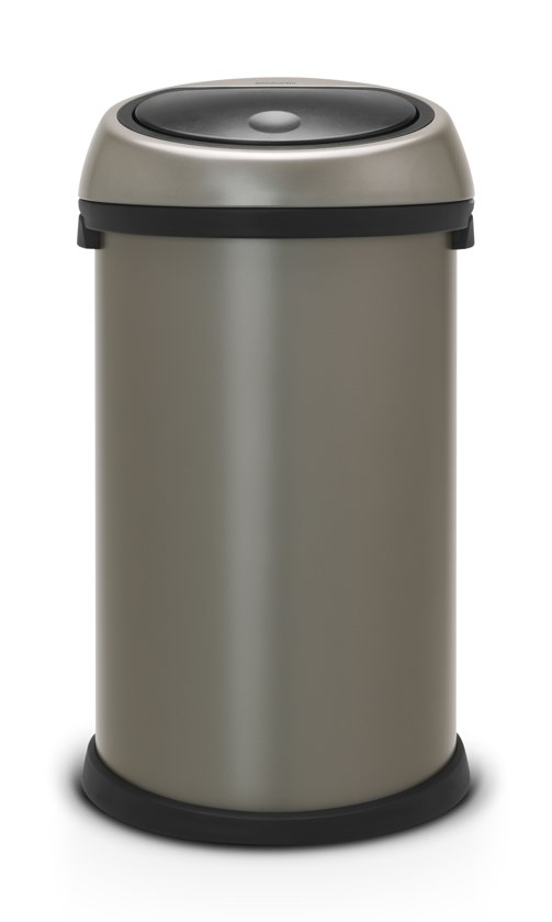 brabantia touch bin prullenbak 50 l platinum. Black Bedroom Furniture Sets. Home Design Ideas