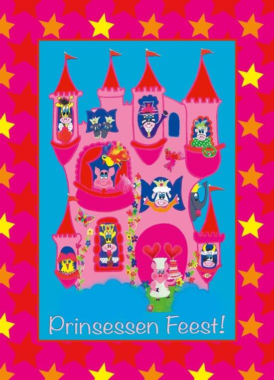 Uitnodiging kinderfeestje Prinsessen A-6 (10 stuks) Puk Art. in Driehuis