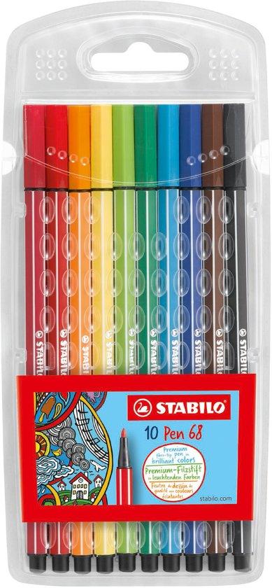 STABILO Pen 68 - 10 Stiften in Kunststof Etui