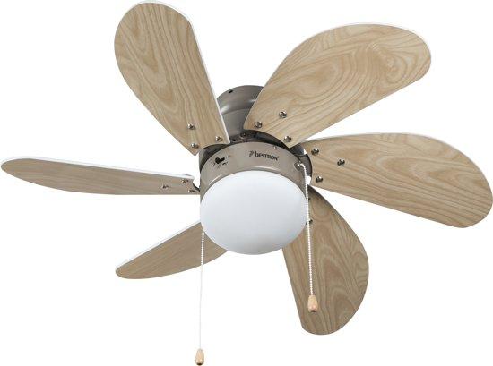 Bestron dc30t plafondventilator met verlichting for Bol com verlichting
