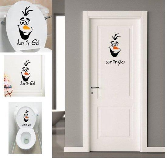 Disney frozen olaf muur wc sticker stikker wonen - Wc oranje ...