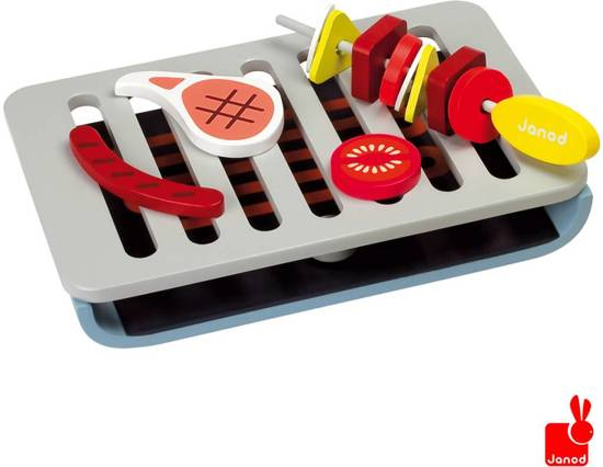 Janod Houten Barbecue Set - Inclusief 15 Accessoires