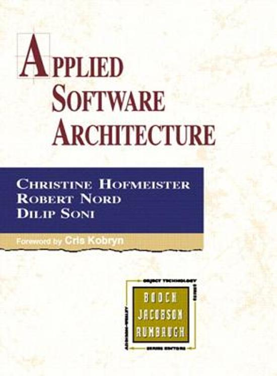 Applied software architecture christine hofmeister