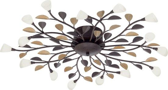 bol.com  EGLO Campania - Plafondlamp - 5 Lichts - Antiek-Bruin, Goud ...