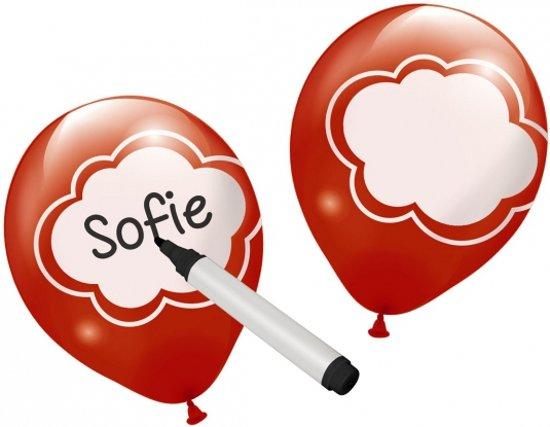 Beschrijfbare ballonnen 6 stuks in Nieuwkoop