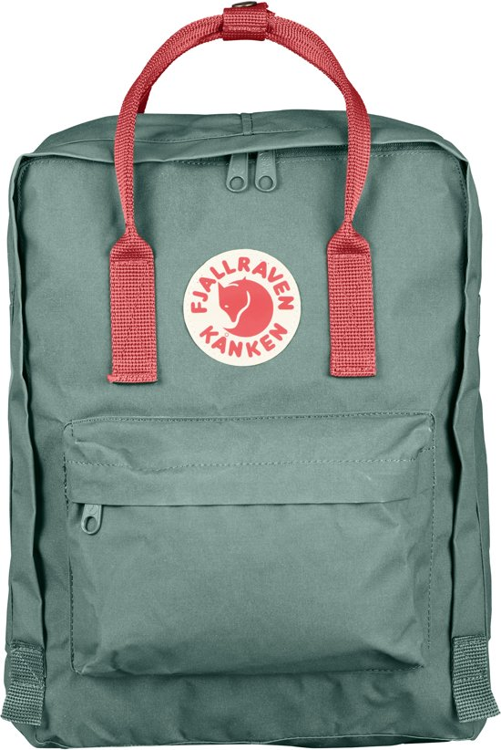 Fjallraven Kanken - Backpack - 16 liter -  Frost Green-Peach Pink in Keldonk