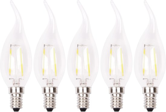 Xq lite xq1403 filament led lamp kaars e14 for Led lampen 0 5 watt