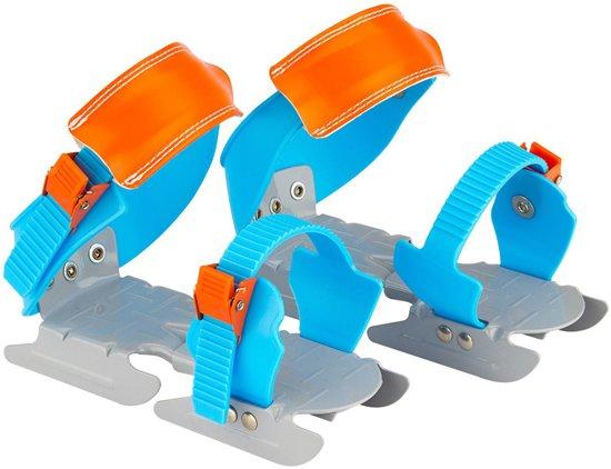 Nijdam Junior Glij-ijzers - Verstelbaar - Blauw/Multi in \'t Haantje