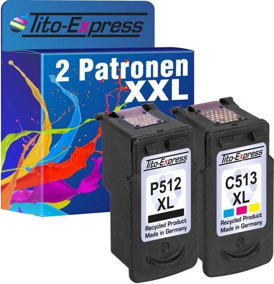 Spaarset 2 Patronen voor Canon PG-512XL & CL-513XL PlatinumSerie  MP230 / MP240 / MP250 / MP260 / MP270 / MP280 / MP480 / MP490 / MP495 / MP499 / MX320 / MX330 / MX340 / MX350 / MX360 / MX410 / MX420